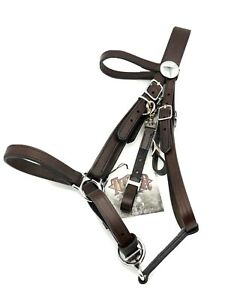 NEW Tucker Bridle Halter Combination Leather Brown with Silver Chrome #0114-1201