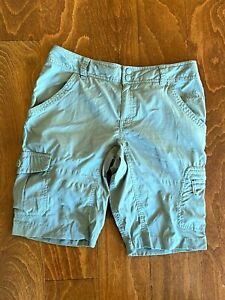 The North Face Womens Sz 6 Outdoors Walking Hiking Light Shorts Olive Green