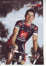 CYCLISME carte  cycliste IMANOL ERVITI équipe CAISSE D'EPARGNE 2007