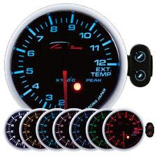 D Racing 52mm Temperatura Gas Indicador Instrumento Escape Advertencia Pico