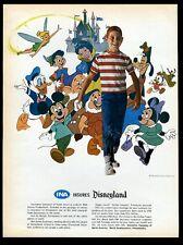 1964 Walt Disney Disneyland character art Ina insurance vintage print ad