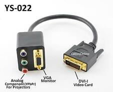 DVI-I Male to VGA/RCA RGB Component Dual Female Y-Splitter CableOnline YS-022