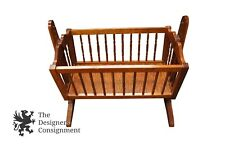 Early American Handmade Solid Cherry Baby Rocking Crib Cradle Bed Arts & Crafts