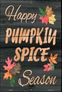 Pumpkin Spice Season Novelty Sign October Fall Autumn Season Decorations