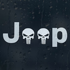 Punisher Jeep Skull Car Decal Vinyl Sticker For Bumper Or Window Or Panel