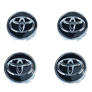"""NEW  2-7/16"""" 62MM 2.44"""" 4-Piece Set Chrome Wheel Center Caps fir for TOYOTA"""