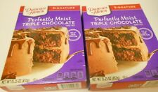 """DUNCAN HINES """"TRIPLE CHOCOLATE CAKE MIX"""" 15 OUNCE NOV..2020     """"TWO  BOXES"""""""