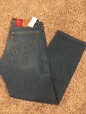 NWT Levis 505 Mens Jeans Regular Fit W Stretch Straight Leg 36X30 00505-1371