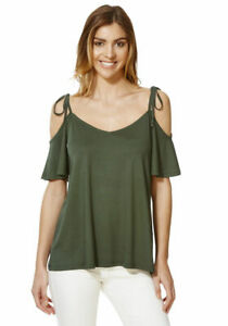 Women Cold Off Shoulder Tee Shirt  Top Blouse  UK Size 14-22