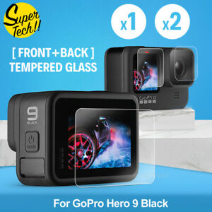 3in1 Tempered Glass Protective Lens Screen Protector for Gopro Hero 9 Go Pro