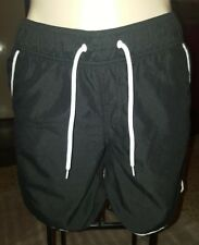 WOMENS Sz 8 black & white NOW surf / board shorts LOVELY! ELASTIC WAIST!