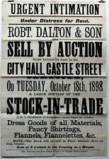 More details for 1898 old antique 19th century poster carlisle dalton & son sale by auction rare
