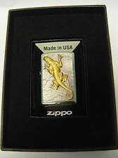 Zippo® Golden Lizard Gecko Chameleon green eyes  Limited Edition  - Neu/ New OVP