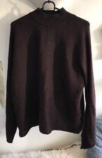 Ladies H&M Dark Purple Jumper Size M Long Sleeve Oversized Ribbed Wool