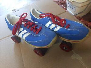 Vintage Roller Derby Shoe Skates Roller Disco 1970's-80's Blue & white NICE!!
