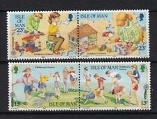 Isle of Man MNH 1989 sc#396a/398a Children's Games, set of 2 se-tenant pairs