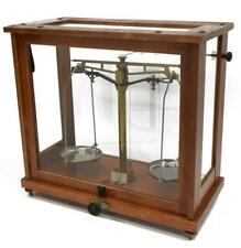 Balance Scales, Glass Cased Microid Laboratory, Handsome Antique!