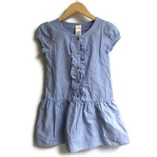 Gymboree Blue Ruffle Dress 8 Short Sleeve
