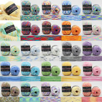 Mixed Job Lot 23 color 50g knitting Crochet Milk soft Baby cotton wool Yarn
