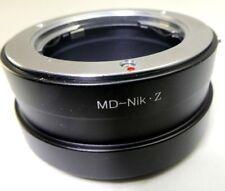 Minolta Md Mc Sr Objetivo Soporte Adaptador para Nikon Z 6 7 Imagen Completa