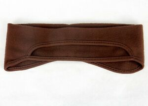 Fleece Ball Cap Ear Warming Band, Fits Over Hat Bill, Choice of Red, Blue, Brown