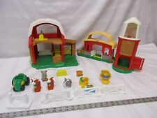 Fisher price little people farm barn animals red LOT A1 sounds chicken rabbit