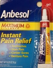 Anbesol Maximum Strength Oral Anesthetic Gel, .33-Ounce Tube