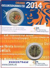 NEDERLAND - COINCARD 10 C 2014 BU - HET ORANJE GELUKSDUBBELTJE
