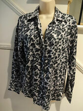 LADIES FOXCROFT NWOT SIZE 14 WRINKLE FREE FITTED COTTON BLOUSE