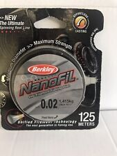 Berkley Nanofil 0.02mm 1.415kg Clear Mist 125 Metres