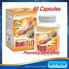 BoniGut, 01 Box x 60 Capsules, Natural Remedy for URIC ACID GOUT Relief ! FREE