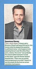 """TV's """"Castle"""", Seamus Dever in 2011 Magazine Clipping, as """"Det. Kevin Ryan"""""""