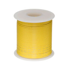 """26 AWG Gauge Solid Hook Up Wire Yellow 250 ft 0.0190"""" UL1007 300 Volts"""