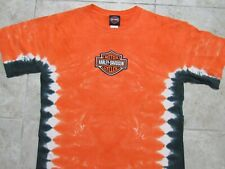 Used HARLEY DAVIDSON Tie-Dye Embroidered Mens MED Shirt Legacy Effingham IL M