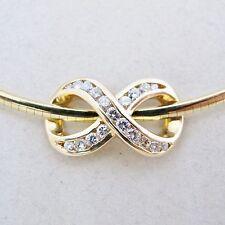Yellow gold omega 14k fine diamond necklaces pendants ebay 14k yellow gold 18 omega chain necklace with 12 diamond slide pendant 30g aloadofball Images