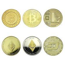 Krypto Sammlermünzen 6 Münzen als Set vergoldet