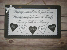 Family Personalised Decorative Plaques & Signs