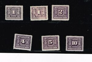 Canada 1906-1928, J1-J5, First Postage Due Set -  complete VFMLH OG -  Fresh!