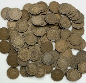 100 Indian Head Cents (1900 and later) Good Condition or Better