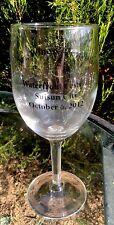 "SUISUN CITY CA Art, Wine & Chocolate Festival 10-06-12 Wine Glass Stemware 7.5"""