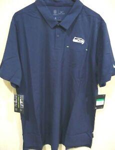 NFL Nike Seattle Seahawks Football Elite Performance Polo Shirt XL NWT AO3896
