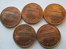 New listing 1994-P Memorial Cents, Lot Of 5 Assorted Reverse Die Crack Errors, Au+,Red, Circ