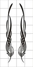 Pinstripe Set of 2 decals vinyl stickers motorcycle car truck tank fender black