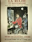 Original Marc Chagall 1978 French Artist  Lithograph Poster