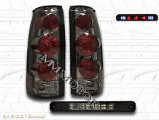 88-98 CHEVY SILVERADO GMC C/K TRUCK SMOKE TAIL LIGHTS + LED SMOKE BRAKE LIGHT