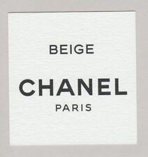 Carte à parfumer - perfume card  - Beige de Chanel