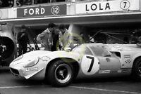 Photo Le Mans 24 Hours 1968 Lola T70 MKlll Ulf Norinder Sten Axelsson