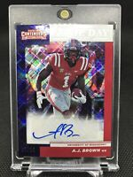 2019 Panini Contender Draft Picks AJ Brown Game Day Ticket /15 RC Auto Titans SP