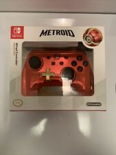 Nintendo Switch Red / Gold Chrome Metroid Wired Controller NEW Special Limited
