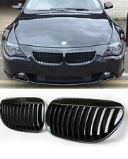 BMW 6 Series E63 E64 & M6 gloss black performance front kidney grills grilles UK